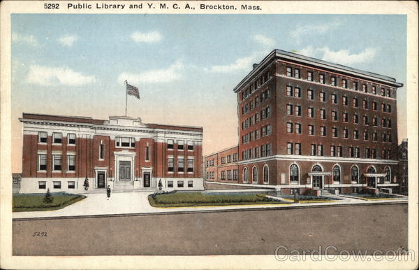 Public Library and Y. M. C. A. Brockton Massachusetts