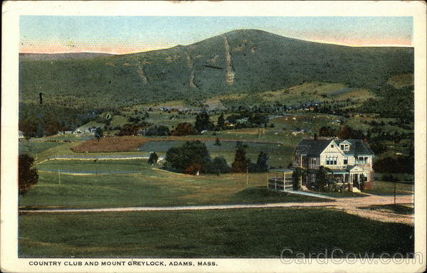 Country Club and Mount Greylock Adams Massachusetts