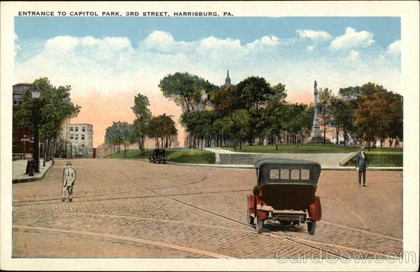 Entrance to Capitol Park, 3rd Street Harrisburg Pennsylvania
