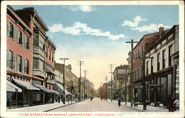 Third Street from Market Looking East Harrisburg Pennsylvania