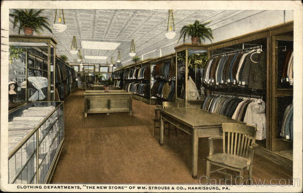 Clothing Departments, The New Store of Wm. Strouse & Co. Harrisburg Pennsylvania