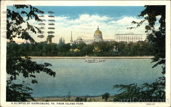 A Glimpse of Harrisburg From Island Park Pennsylvania