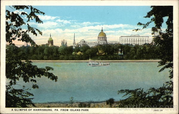 A Glimpse of Harrisburg, PA from Island Park Pennsylvania
