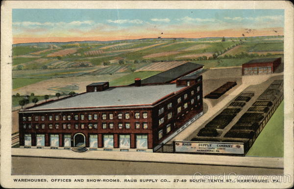 Raub Supply Co. - Warehouses, Office and Show-Rooms Harrisburg Pennsylvania