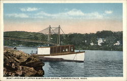 Boat Landing at Upper Suspension Bridge, Turners Falls