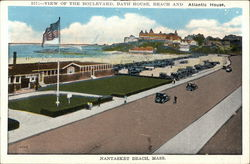 View of the Boulevard, Bath House, Beach and Atlantic House