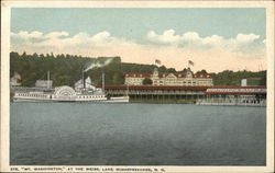 "Steamer ""Mount Washington"" At Lake Winnepesaukee Postcard"