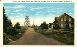 Tower and Summit House, Mt. Greylock Postcard