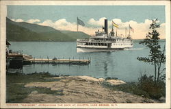 "Steamer ""Sagamore"" Approaching the Dock at Huletta"