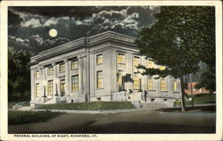Federal Building, At Night Postcard