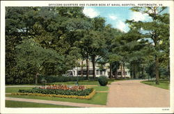 Officers Quarters and Flower Beds at Naval Hospital