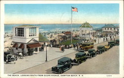 Beach Looking South from Ocean Avenue Postcard