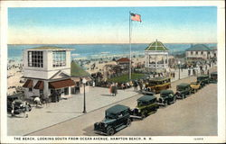 The Beach Looking South from Ocean Avenue Postcard