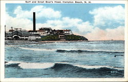 Surf and Great Boar's Head Postcard