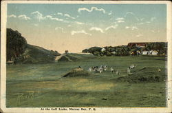 At the Golf Links Postcard