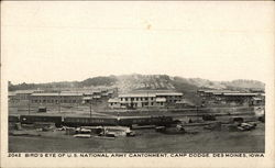 Bird's Eye of U.S. National Army Cantonment, Camp Dodge