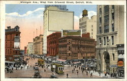 Michigan Ave., West from Griswold Street
