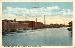 Merrimac River and Mills Looking West