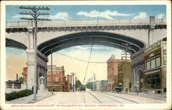 Main Arch of Mulberry Street Bridge on Cameron Street