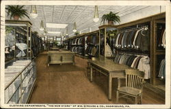 "Clothing Departments, ""The New Store"" of Wm. Strouse & Co."
