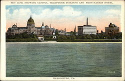 Skyline Showing Capitol, Telephone Building and Penn-Harris Hotel
