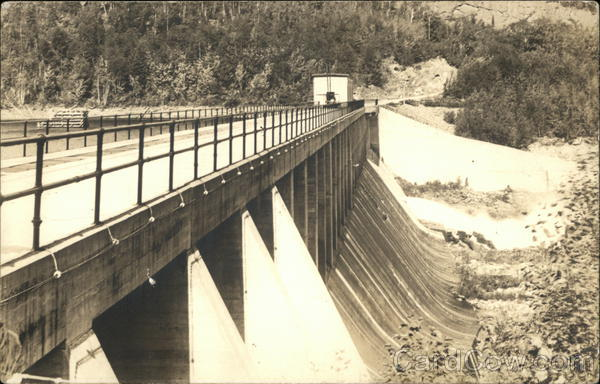 The Lower Side of Ripogenus Dam Millinocket Maine