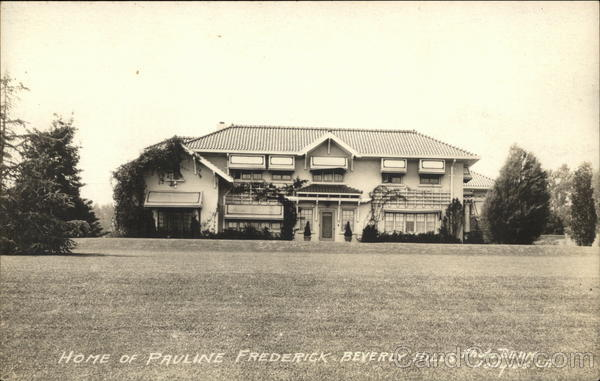 Home of Pauline Frederick Beverly Hills California