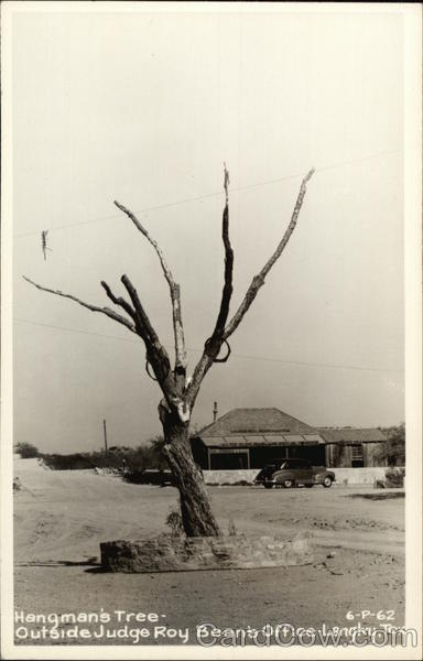 Hangman's Tree Outside Judge Roy Bean's Office Langtry Texas