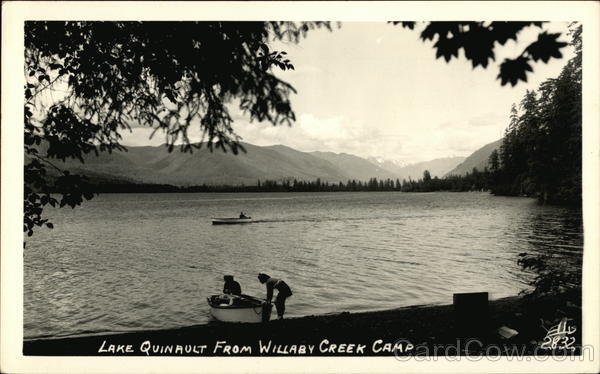 Lake Quinault from Willaby Creek Camp Washington