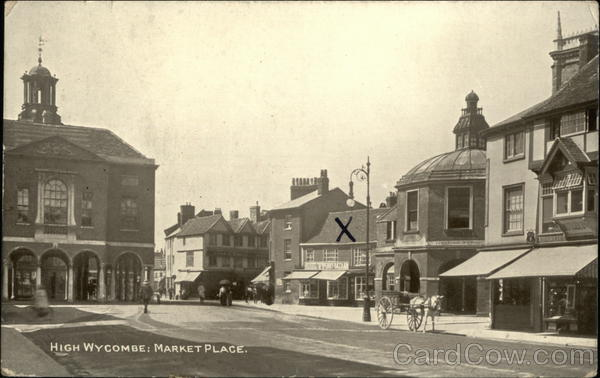 View of Market Place High Wycombe England