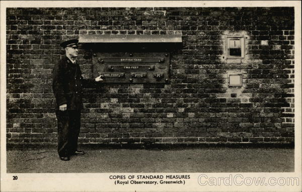 Copies of Standard Measures, Royal Observatory Greenwich England