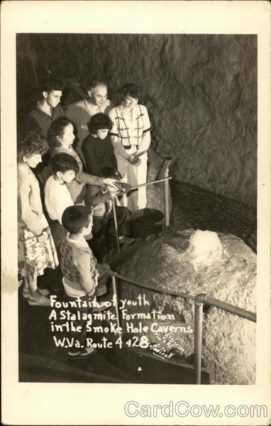 Fountain of Youth, a Stalagmite Formation, Smoke Hole Caverns Cabins West Virginia