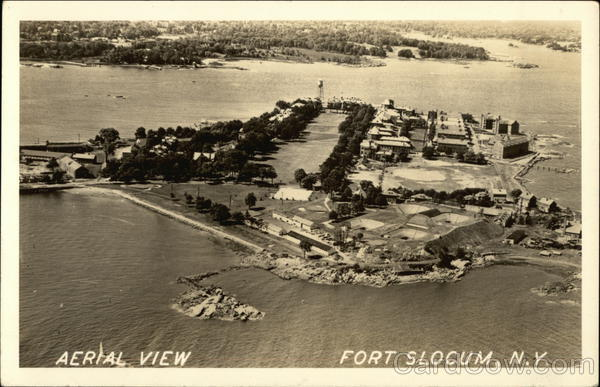 aerial view fort slocum new rochelle ny postcard. Black Bedroom Furniture Sets. Home Design Ideas