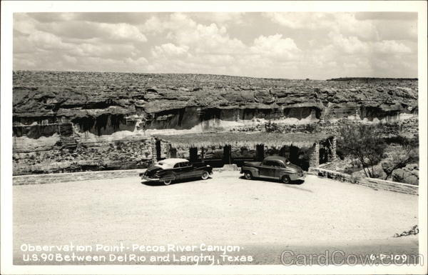 Observation Point, Pecos River Canyon Langtry Texas