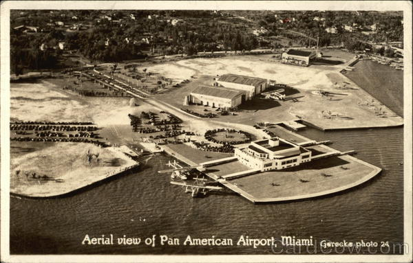 Aerial View of Pan American Airport Miami Florida Airports