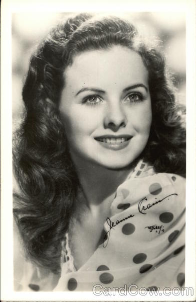Jeanne Crain Head Shot Actresses