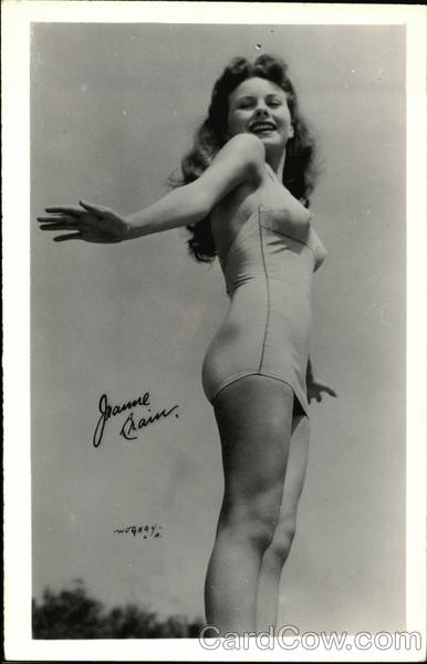 Jeanne Crain Posing in Swimsuit Actresses