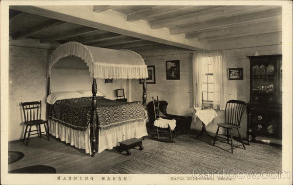A Bedroom in Manning Manse, Built c. 1696 Billerica Massachusetts