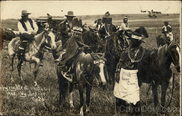 Chief Bear Claw and Others J. V. Dedrick Native Americana