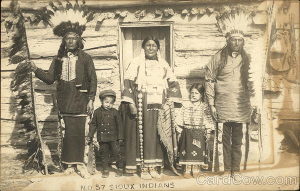 Sioux Indian Family Native Americana