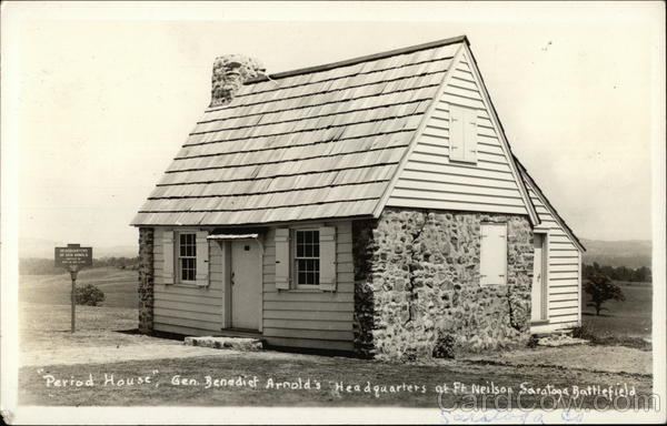 Period House, Gen. Benedict Arnold's Headquarters at Ft. Neilson Saratoga Battlefield New York