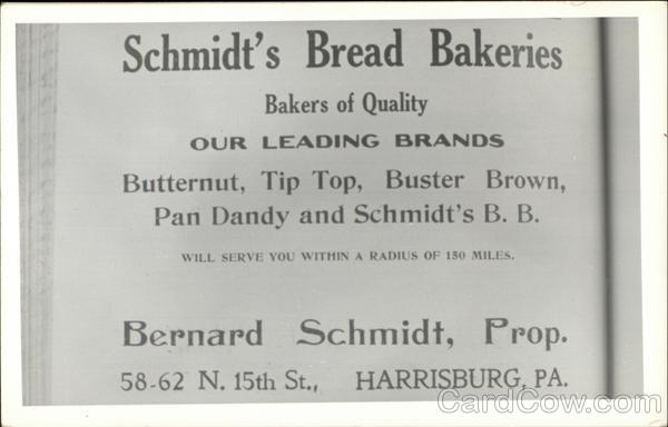 Schmidt's Bread Bakeries Harrisburg Pennsylvania