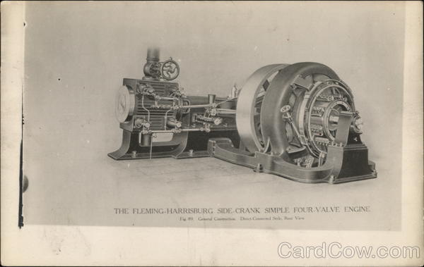The Fleming-Harrisburg Side Crank Simple Four-Valve Engine