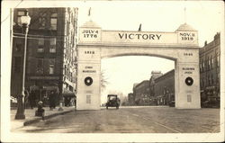 "The ""Victory"" Arch on Main Street"