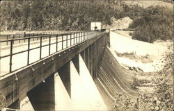 The Lower Side of Ripogenus Dam Postcard