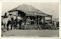 Judge Roy Bean's Hall of Justice Postcard