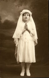 Portrait of Praying Girl
