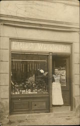 Bavarian Woman Tending Her Shop