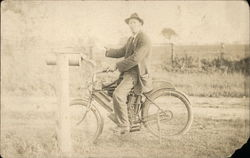 Mail Carrier on Indian Motorcycle