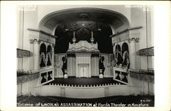Scene of Lincoln's Assassination at Ford's Theater in Miniature